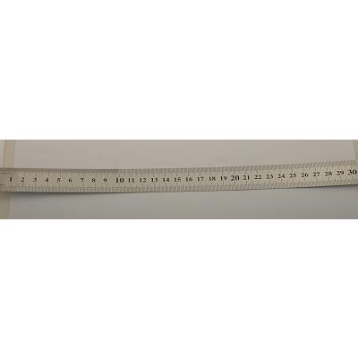 Линейка металл 30 см сталь ASR30 580694 в интернет-магазине Швейпрофи.рф