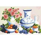 Алмазная мозаика АЖ-0105 «Натюрморт с розами»
