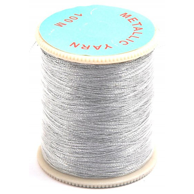 Люрекс (катушки) уп.12 шт Эмир. 50 м серебро в интернет-магазине Швейпрофи.рф