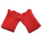 Манжеты трикотажные красный