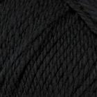 Пряжа Мериносовая, 100 г / 200 м, 002 черный