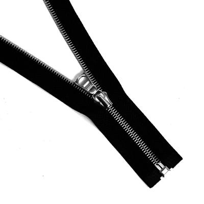 Молния TIT Т5 мет.  70 см никель шлифованный чёрный в интернет-магазине Швейпрофи.рф