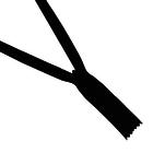 Молния Т3 потайная 20 см  SBS  чёрный