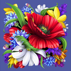 Алмазная мозаика АЖ-1126 «Цветной букет»