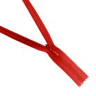 Молния Т3 потайная 50 см  SBS №518 красный