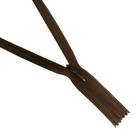 Молния Т3 потайная 50 см  SBS №900 св. коричневый