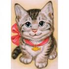 Алмазная мозаика АЖ-1193 «Кот с бантом»