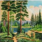 Алмазная мозаика АЖ-1236 «Тихая заводь»