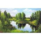 Алмазная мозаика АЖ-1240 «Тихая река»