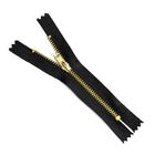 Молния Т4 джинс. авт. 12 см золото/чёрный