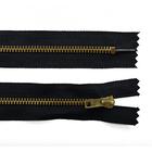 Молния Т4 джинс. авт. 16 см золото/черн.