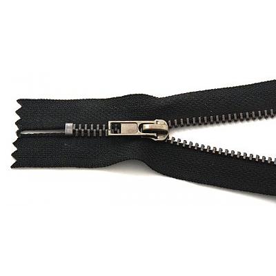 Молния Т4 джинс. авт. 16 см оксид/черн. в интернет-магазине Швейпрофи.рф