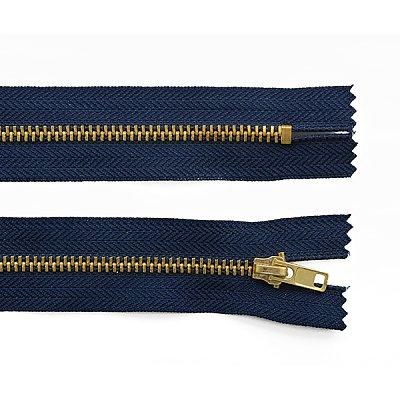 Молния Т4 джинс. авт. 18 см золото/330 син. в интернет-магазине Швейпрофи.рф