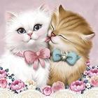 Алмазная мозаика АЖ-1296 «Кот и кошка»
