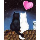 Алмазная мозаика АЖ-1297 «Кошачья романтика»