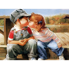 Алмазная мозаика АЖ-1298 «Поцелуй» 30*40 см