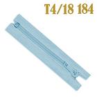 Молния Т4 спираль брючн. п/авт. 18 см 184 голуб.