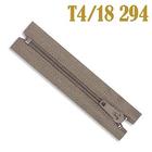 Молния Т4 спираль брючн. п/авт. 18 см 294 т.-беж.