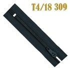 Молния Т4 спираль брючн. п/авт. 18 см 321 т.-серый