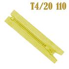 Молния Т4 спираль брючн. п/авт. 20 см 110 жёлт.