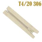 Молния Т4 спираль брючн. п/авт. 20 см 306 молочн.