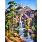 Алмазная мозаика АЖ-1347 «Горный водопад» 30*40 см