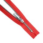 Молния Т5 GM-851  18 см никель/ красный №145