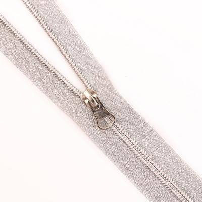 Молния Т5 декор. спираль 1-бег. 70 см серебро в интернет-магазине Швейпрофи.рф