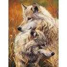 Алмазная мозаика АЖ-1403 «Волчья нежность»