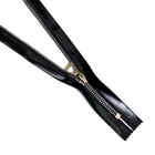Молния Т5 мет. 18 см т.никель силикон Ит.bap чёрный