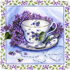 Алмазная мозаика АЖ-1441 «Натюрморт с сиренью» 25*25 см
