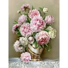 Алмазная мозаика АЖ-1505 «Роскошные пионы» 40*50 см