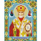 Алмазная мозаика АЖ-2001 «Икона Николая Чудотворца» 22*28 см