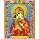 Алмазная мозаика АЖ-2007 «Икона Владимирская» 22*28 см