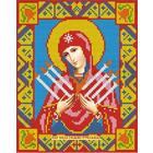 Алмазная мозаика АЖ-2009 «Икона Семистрельная» 22*28 см