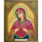 Алмазная мозаика АЖ-5011 «Икона Семистрельная»