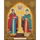 Алмазная мозаика АЖ-5022 «Икона Петр и Феврония»