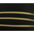 Молния Т5 рулон. спир. (уп. 200 м) золото/черн.