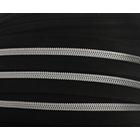 Молния Т5 рулон. спир. (уп. 200 м) серебро/черн.