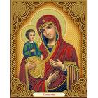 Алмазная мозаика АЖ-5043 «Икона Троеручица»