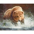 Алмазная мозаика Гранни AG0086 «Медведь на рыбалке» 38*48 см