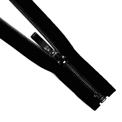 Молния Т7 декор. спираль 1-бег. 40 см 264401 т. никель/черн. в интернет-магазине Швейпрофи.рф