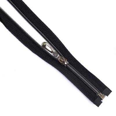 Молния Т7 декор. спираль 1-бег. 70 см чёрн./черн. З в интернет-магазине Швейпрофи.рф