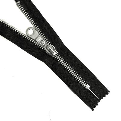 Молния Т8 16 см никель/черн. в интернет-магазине Швейпрофи.рф