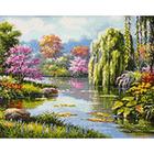 Алмазная мозаика Гранни AG2240 «Живописное озеро»