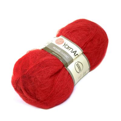 Пряжа Мохер YarnArt (Mohair Classic),100 г / 220 м, 105 красный в интернет-магазине Швейпрофи.рф