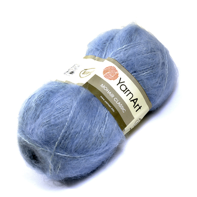 Пряжа Мохер YarnArt (Mohair Classic),100 г / 220 м, 107 голубой в интернет-магазине Швейпрофи.рф