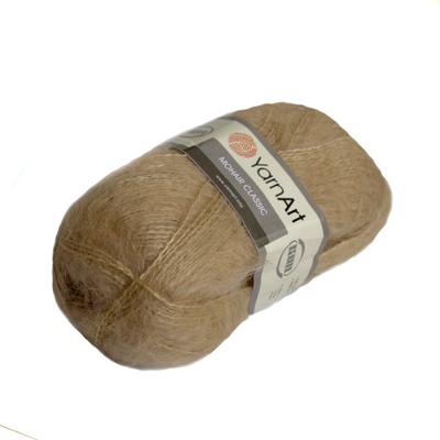 Пряжа Мохер YarnArt (Mohair Classic),100 г / 220 м, 127 св.бежевый ИМ в интернет-магазине Швейпрофи.рф