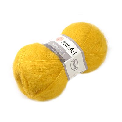 Пряжа Мохер YarnArt (Mohair Classic),100 г / 220 м, 136 жёлтый в интернет-магазине Швейпрофи.рф