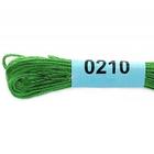 Мулине х/б 8 м Гамма, 0210 зеленый